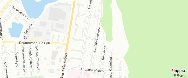 Гаражный переулок на карте Миасса с номерами домов