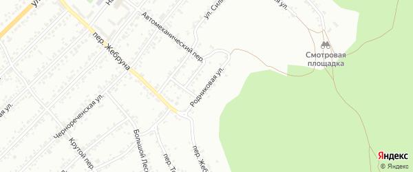 Родниковая улица на карте Миасса с номерами домов