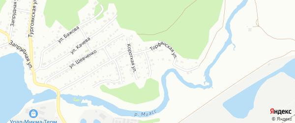Крайняя улица на карте Миасса с номерами домов
