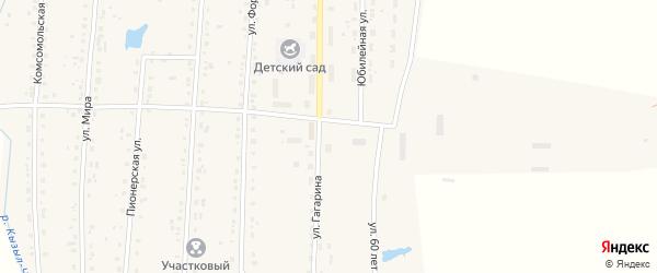 Улица Гагарина на карте села Парижа с номерами домов