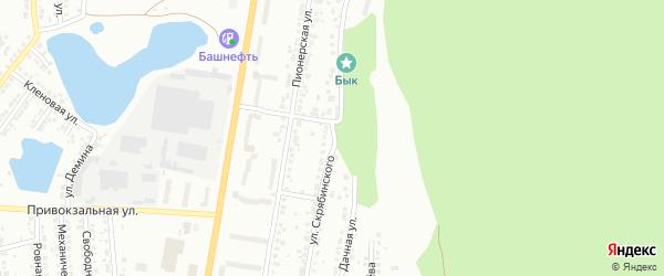 Улица Скрябинского на карте Миасса с номерами домов