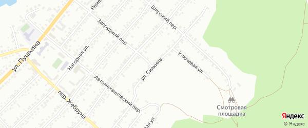 Улица Силкина на карте Миасса с номерами домов