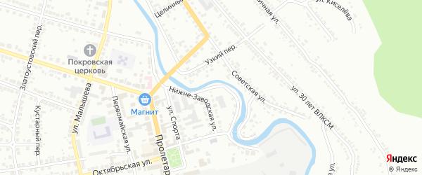 Малая Набережная улица на карте Миасса с номерами домов