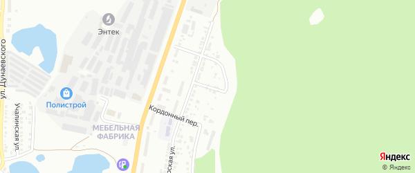 Разведочный переулок на карте Миасса с номерами домов
