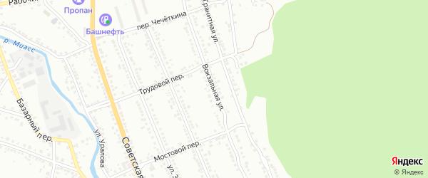 Вокзальная улица на карте Миасса с номерами домов