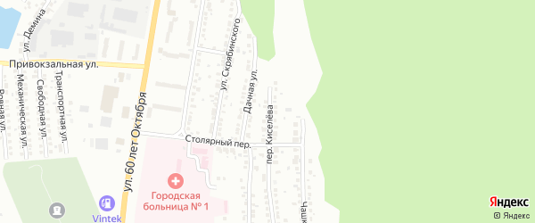 Переулок Киселева на карте Миасса с номерами домов