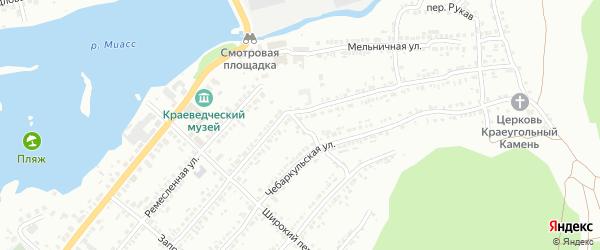 Ремесленный переулок на карте Миасса с номерами домов