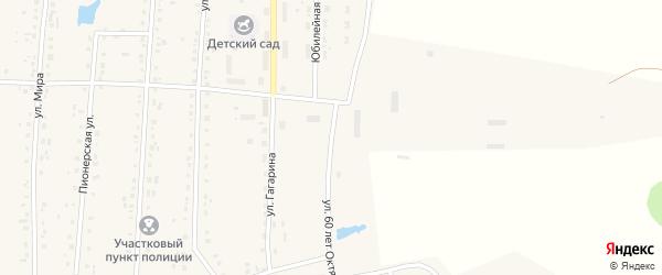 Улица 60 лет Октября на карте села Парижа с номерами домов
