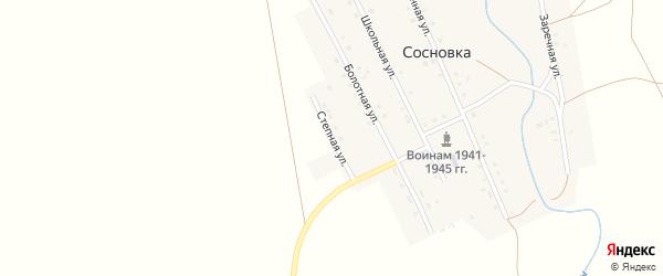 Степная улица на карте села Сосновки с номерами домов