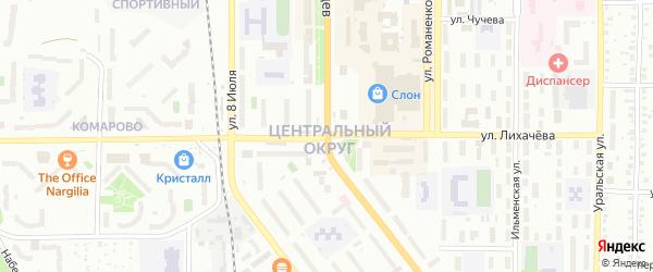 Территория ГСК Жигули на карте Миасса с номерами домов