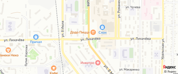 Территория ГСК 2 на карте Миасса с номерами домов