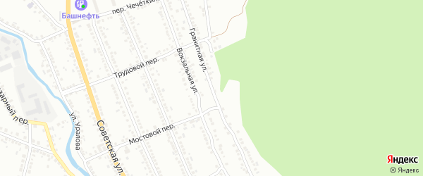 Гранитная улица на карте Миасса с номерами домов