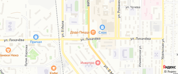 Партизанский переулок на карте Миасса с номерами домов