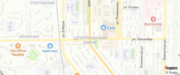 Кольцевая улица на карте Миасса с номерами домов