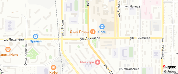 Улица ГПК-14 Железнодорожник на карте Миасса с номерами домов