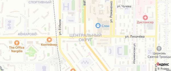 Моторный переулок на карте Миасса с номерами домов