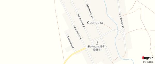 Болотная улица на карте села Сосновки с номерами домов