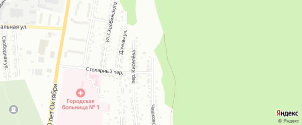 Чашковский переулок на карте Миасса с номерами домов