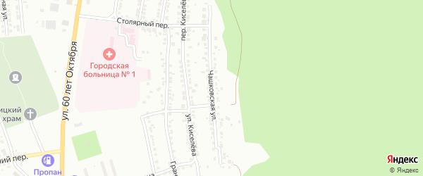 Чашковская улица на карте Миасса с номерами домов