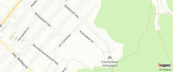 Ключевая улица на карте Миасса с номерами домов