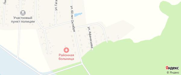 Улица Афанасьева на карте села Парижа с номерами домов