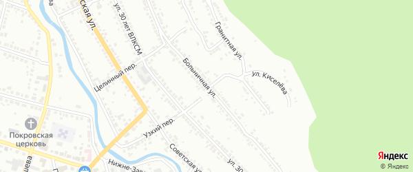 Больничная улица на карте Миасса с номерами домов