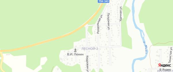 Звездная улица на карте Миасса с номерами домов