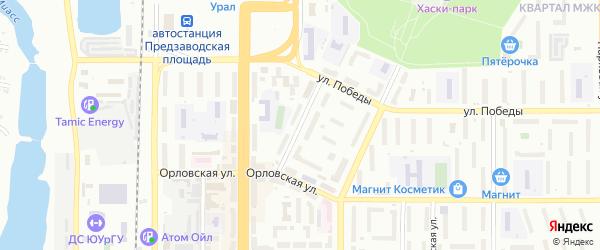 Улица Инструментальщиков на карте Миасса с номерами домов