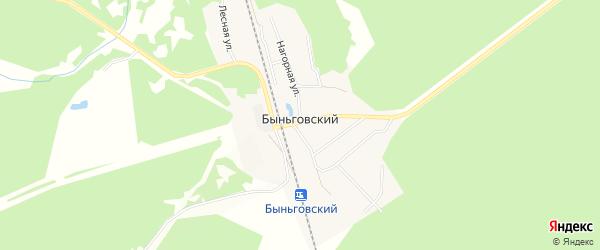 Карта Быньговский поселка города Невьянска в Свердловской области с улицами и номерами домов