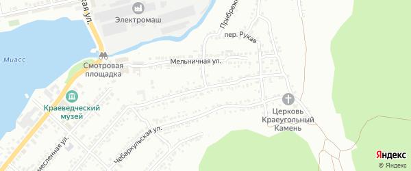 Каменный переулок на карте Миасса с номерами домов