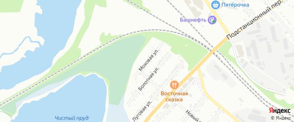 Моховая улица на карте Миасса с номерами домов