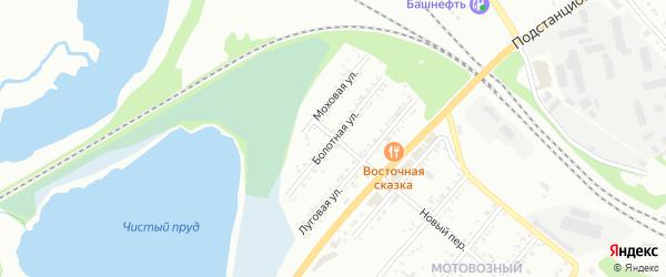 Болотная улица на карте Миасса с номерами домов