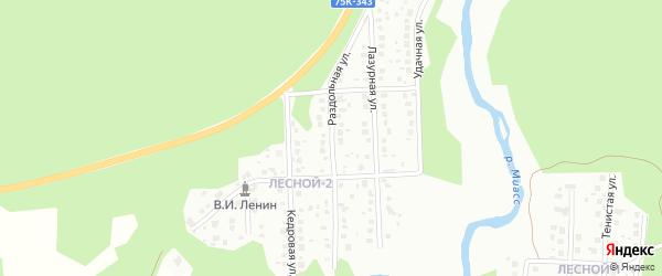 Кедровая улица на карте Миасса с номерами домов