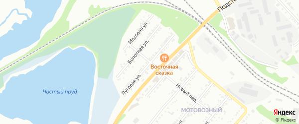Луговая улица на карте Миасса с номерами домов