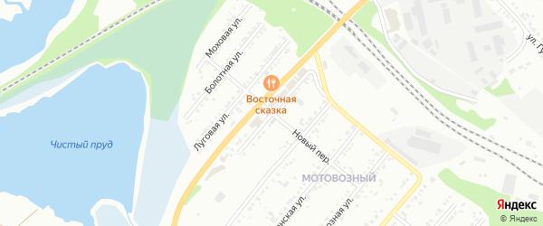 Зеленая улица на карте Красного поселка с номерами домов