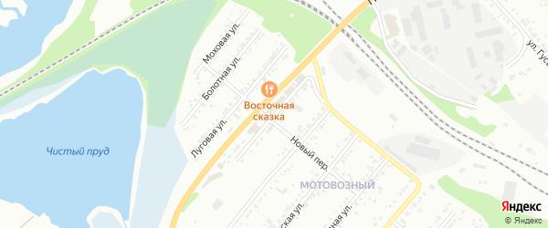 Зеленая улица на карте села Устиново с номерами домов