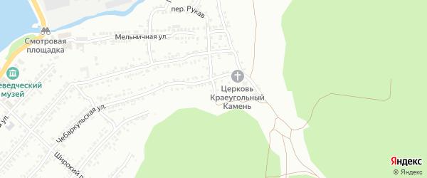 Алтайский переулок на карте Миасса с номерами домов