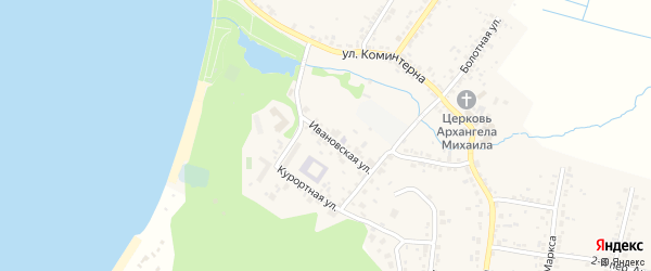 Ивановская улица на карте поселка Тургояка с номерами домов