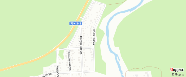 Удачная улица на карте Миасса с номерами домов