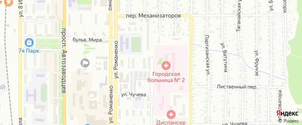 Ильменская улица на карте железнодорожной станции Тургояка с номерами домов