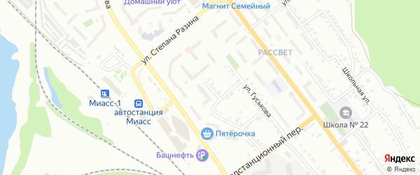 Нечетная улица на карте Миасса с номерами домов