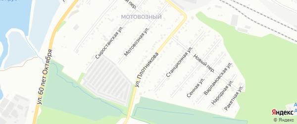 Улица Плотникова на карте Миасса с номерами домов