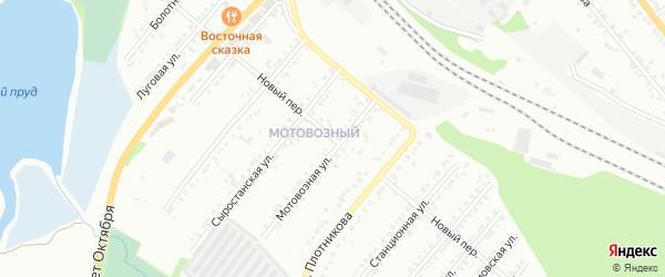 Территория ГСК 4 Новый на карте Миасса с номерами домов