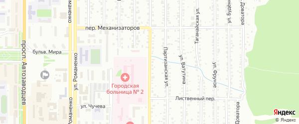 Уральская улица на карте Миасса с номерами домов