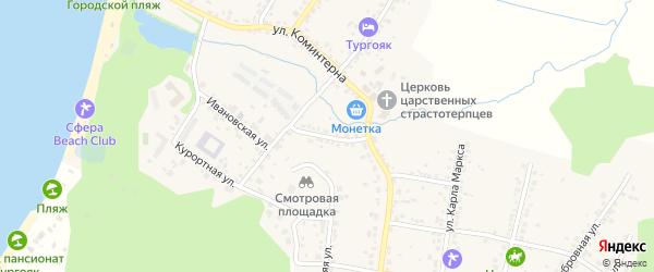 Первомайская улица на карте поселка Тургояка с номерами домов