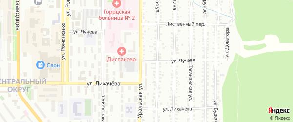 Улица Чучева на карте Миасса с номерами домов
