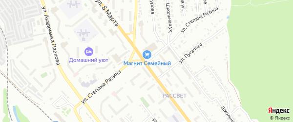 Улица Степана Разина на карте Миасса с номерами домов