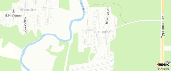 Улица Акмуллы на карте Миасса с номерами домов