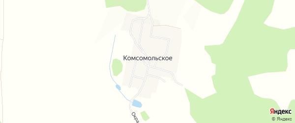 Карта Комсомольского села в Челябинской области с улицами и номерами домов