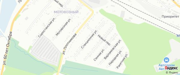 Станционная улица на карте села Смородинки с номерами домов